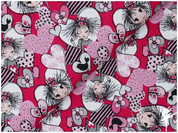 Jersey Steinbeck Valerie Papillon Mädchen Pink