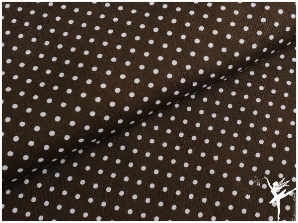 Swafing Baumwolle Mini Punkte Dunkelbraun