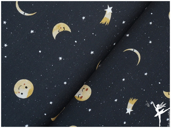 Mini Forest Terry Sweat Mond/Sterne Schwarz