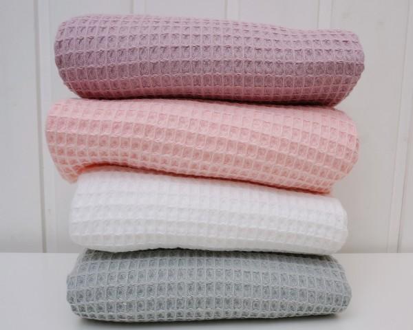 Waffelpiqué Baumwolle Uni Weiß